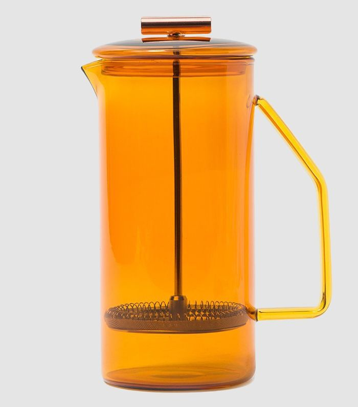 850mL Glass French Press in Amber