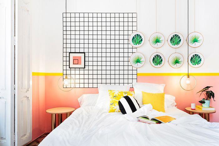 Ideas de decoración que bloquean el color para el dormitorio