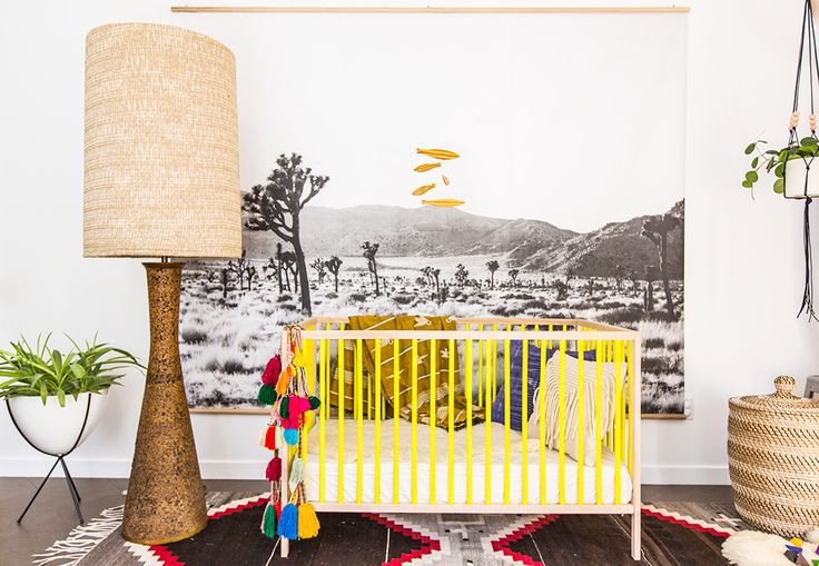 Before And After A Bright Eclectic San Diego Nursery