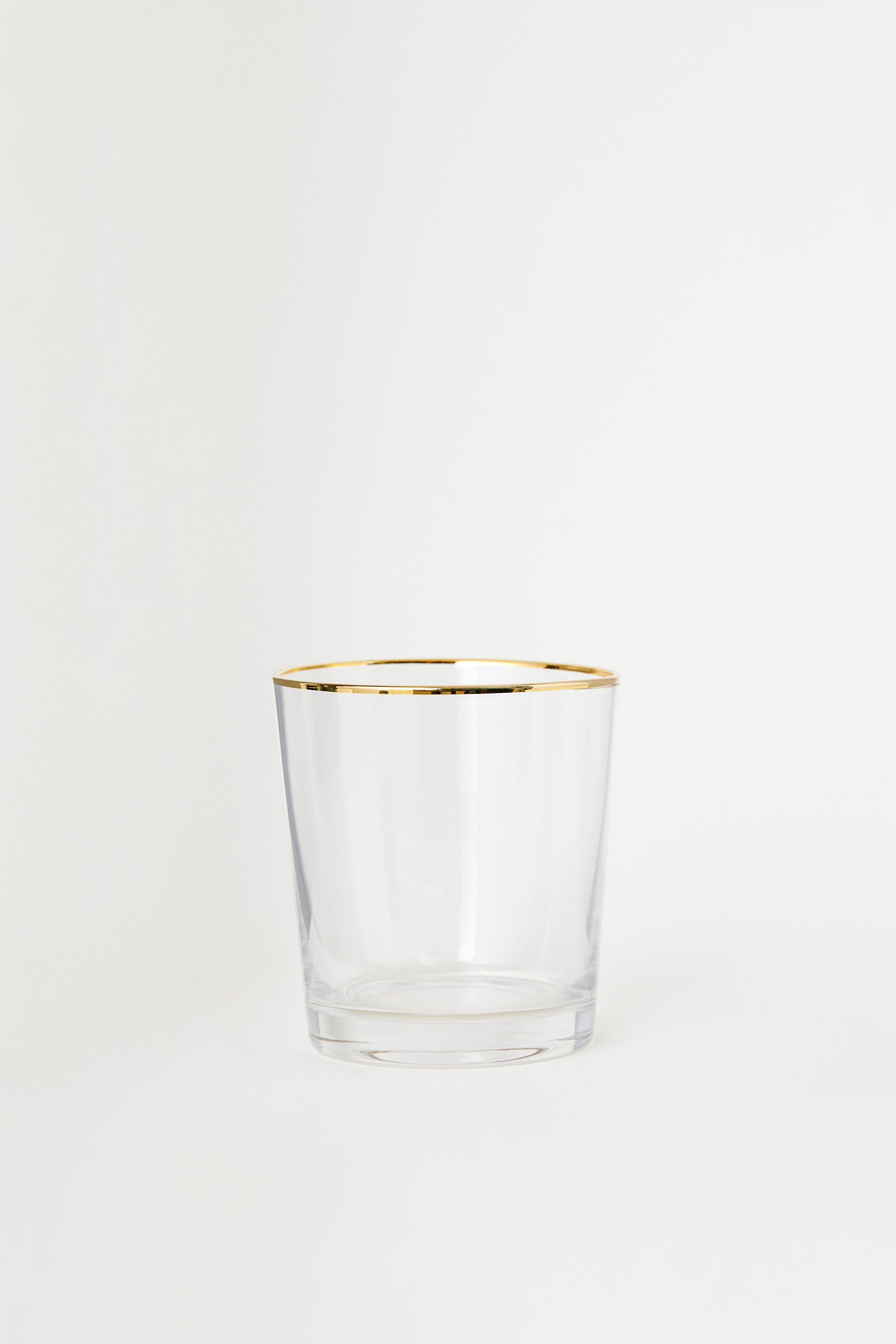 glass with gold rim