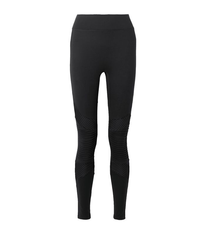 Debut Moto Mesh-paneled Stretch Leggings