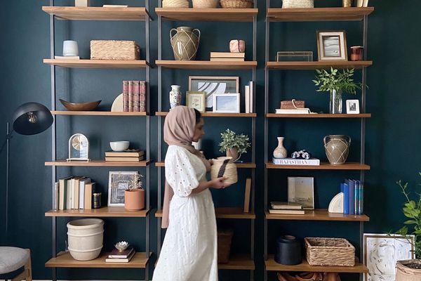 Ruqiya Imtiaz in an office she designed