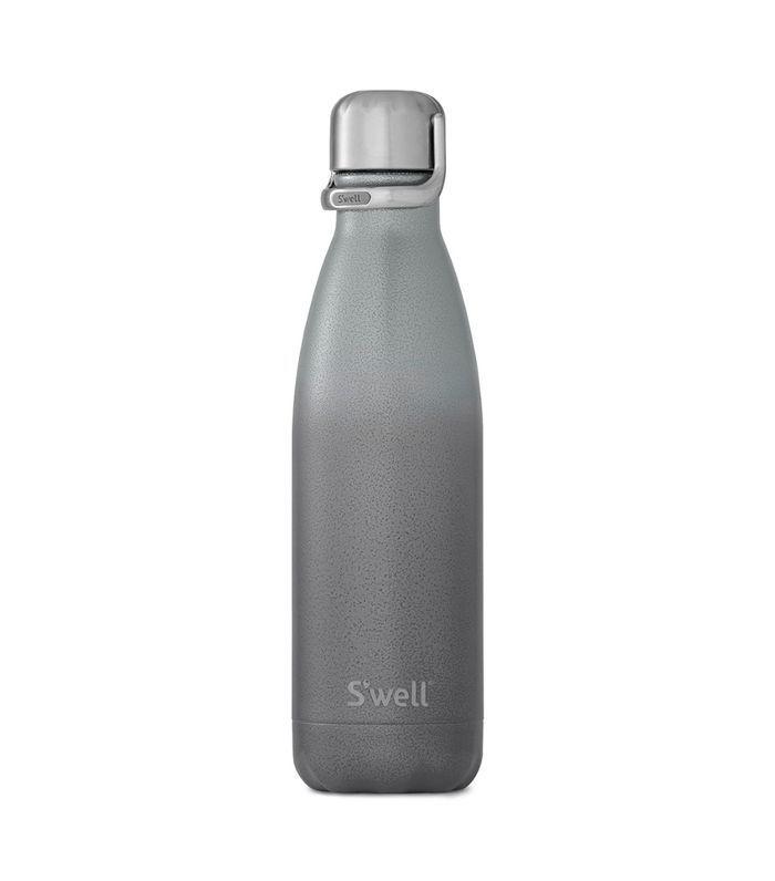 Botella de agua de acero inoxidable S'Well Zeus con tapa deportiva.