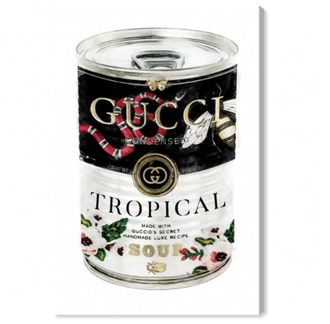 gucci Campbell's soup canvas