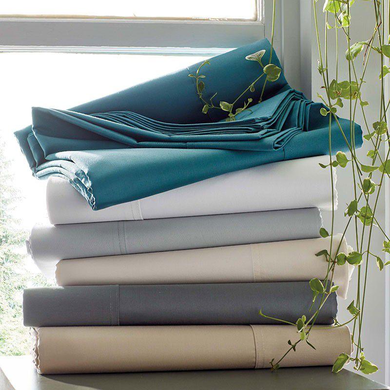 The Company Store Company Cotton Wrinkle-Free Sateen Sheet Set