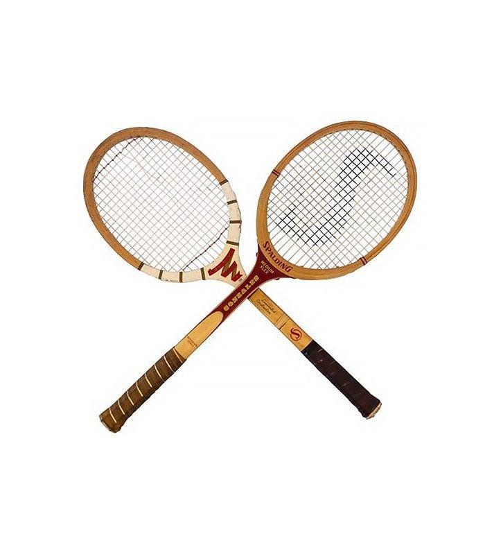 Raquetas de bádminton de madera vintage de Chairish, un par