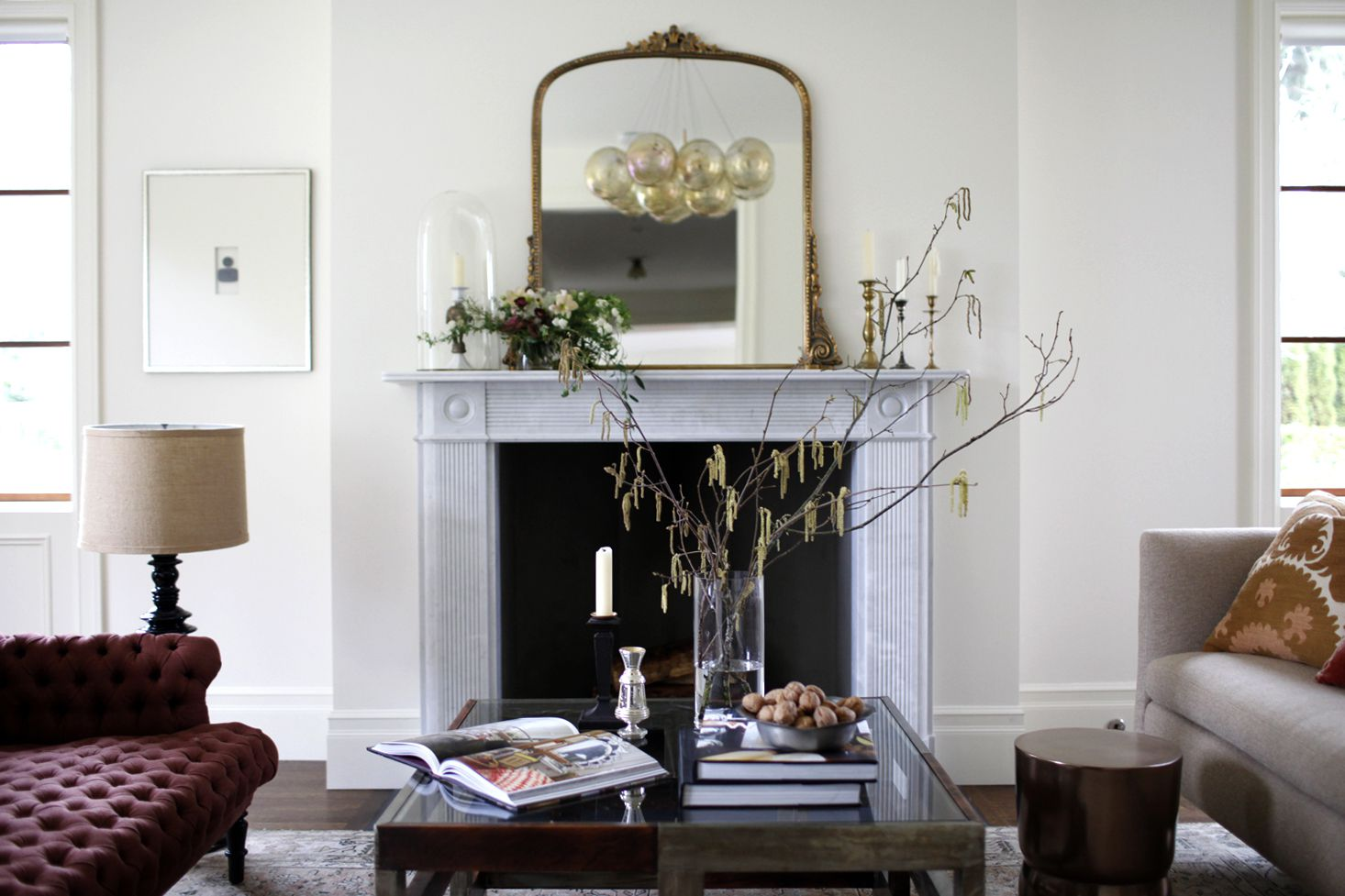 how to clean fireplace blue