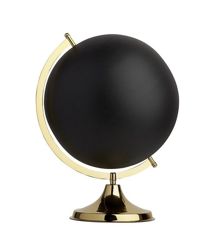 CB2 Black and Brass Globe