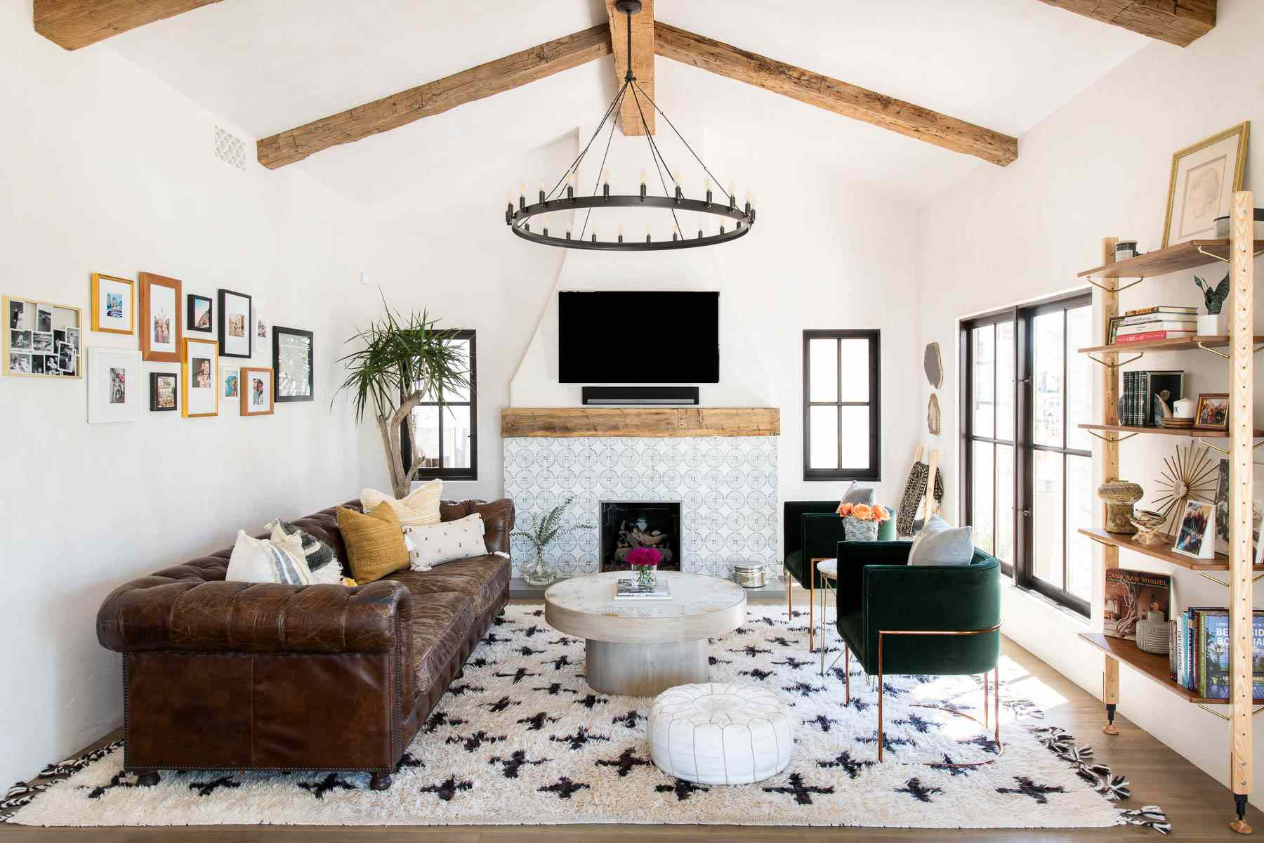 Living Room Extra Cozy, Leather Living Room Groupings