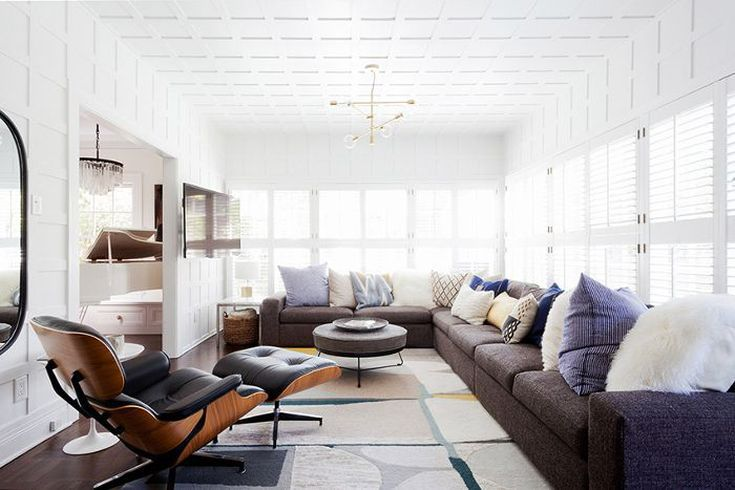 white walls with pop of color