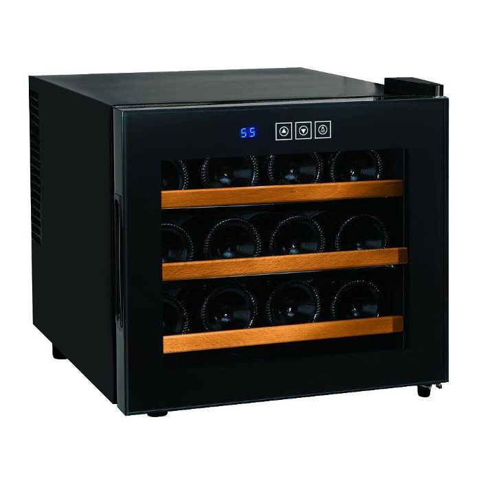 Wine Enthusiast Silent 12-Bottle Single-Zone Wine Cooler