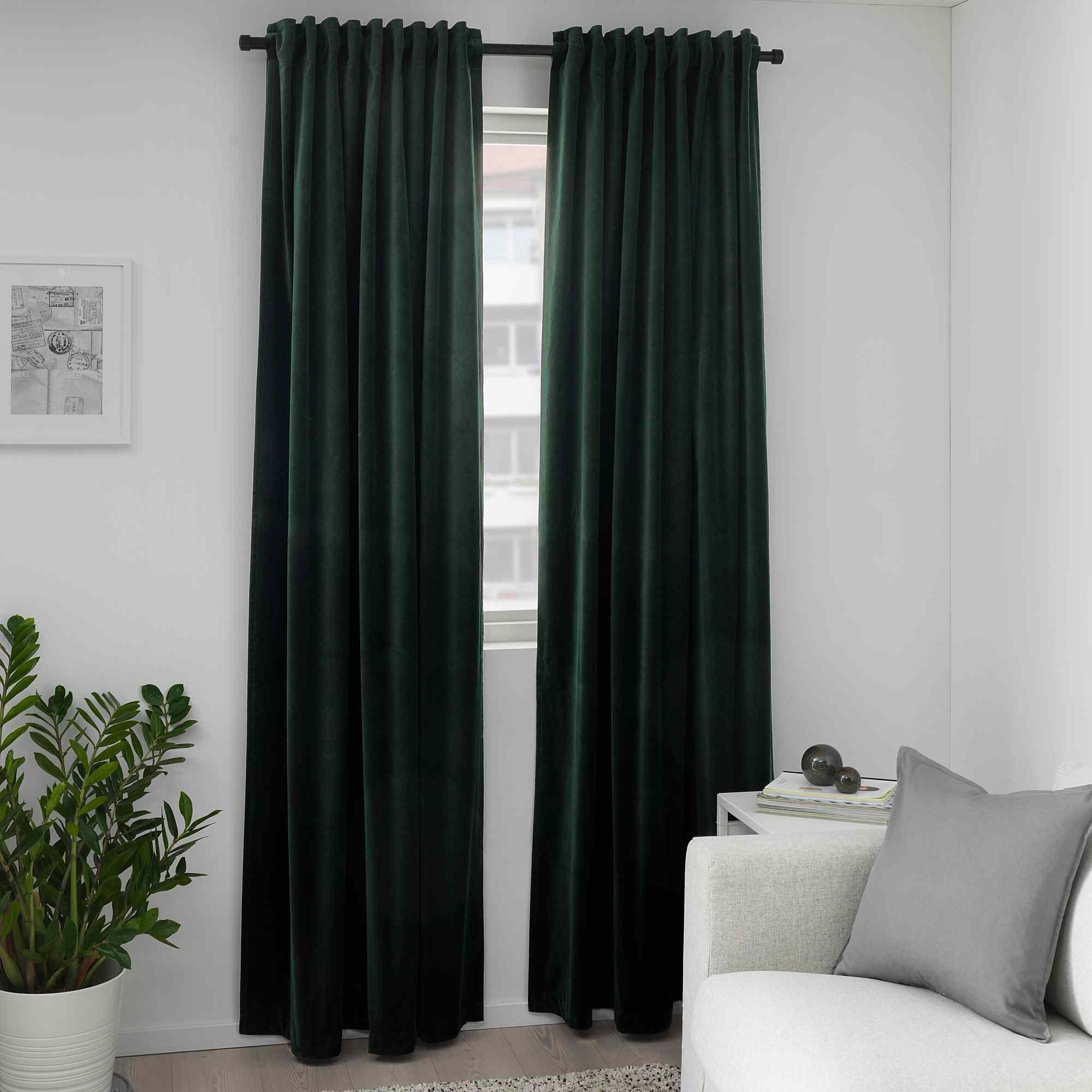 Green drapes