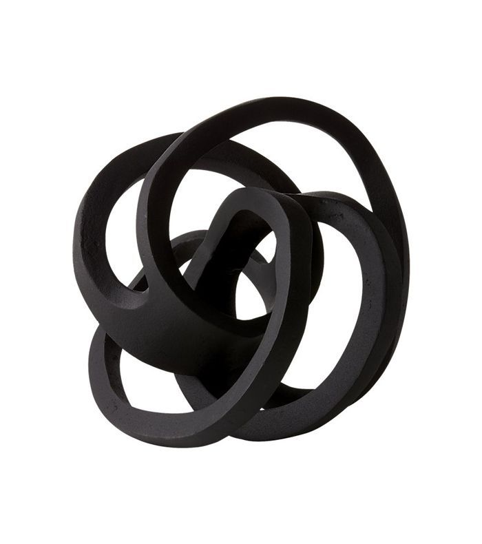 Infinity Black Knot Sculpture