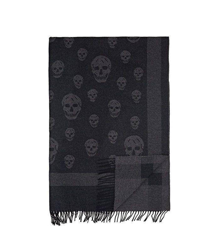 Alexander McQueen Skull-Motif Wool-Blend Throw
