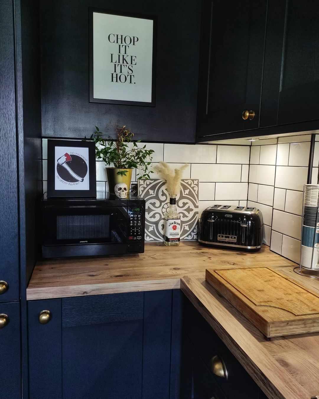 Kitchen with skull