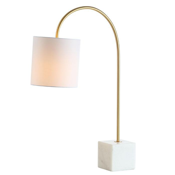 Jonathan Y Marble and Brass Table Lamp