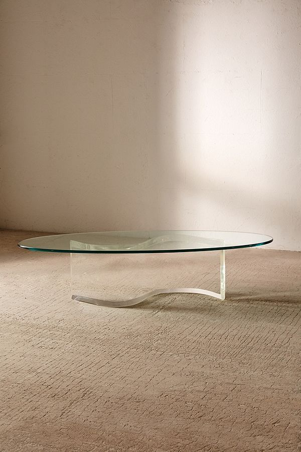 For Urban Renewal One-Of-A-Kind S-Shaped Lucite Coffee Table