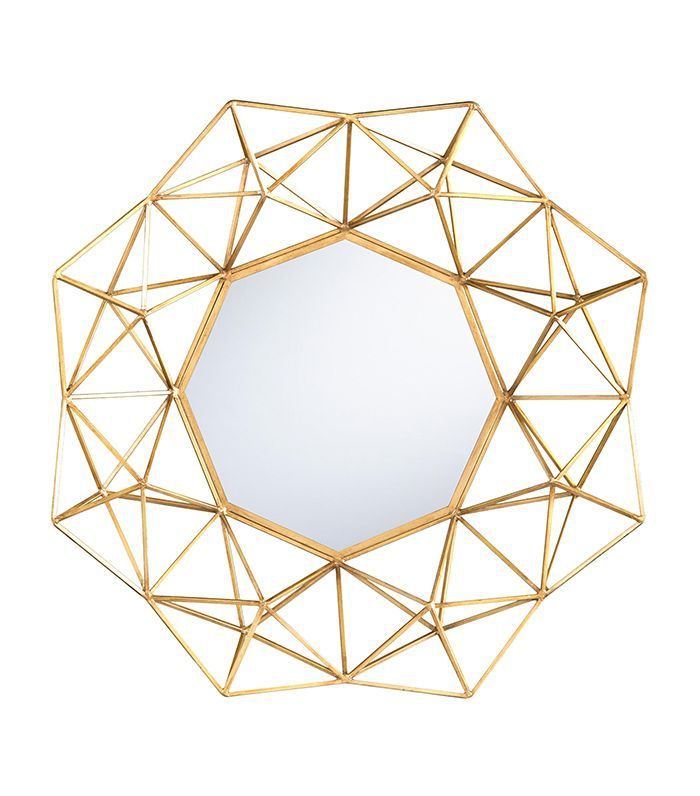 Gold Geometric Danyel Mirror by World Market