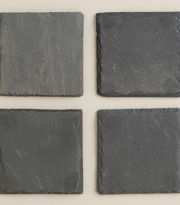 Square Slate Coasters, Set of 4 by World Market