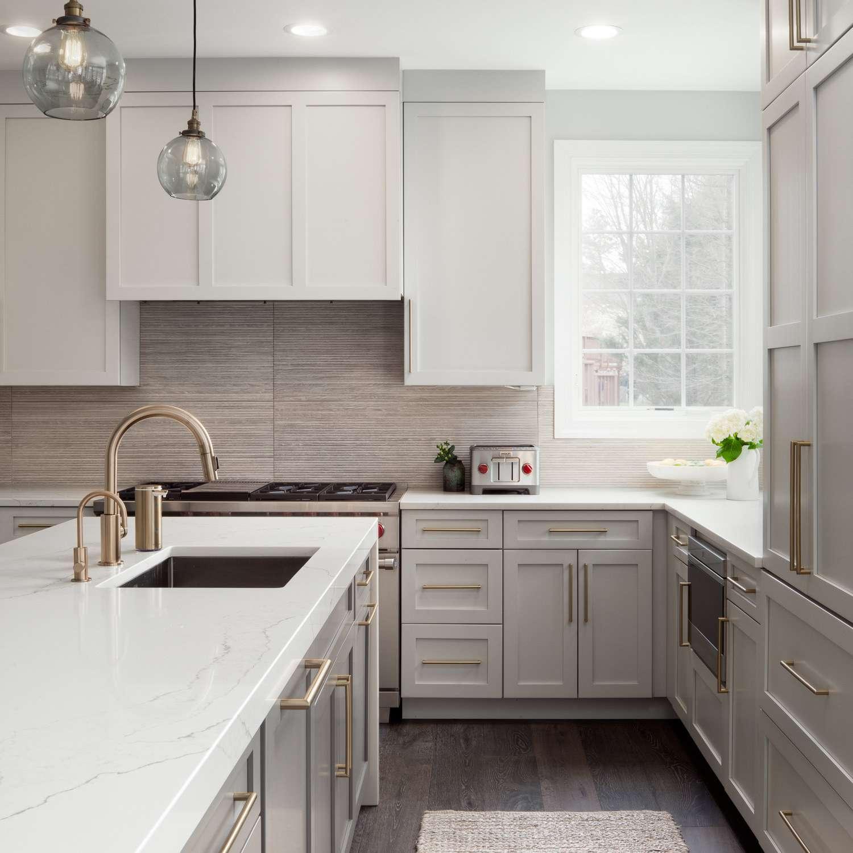 gray kitchen rug in gray kitchen