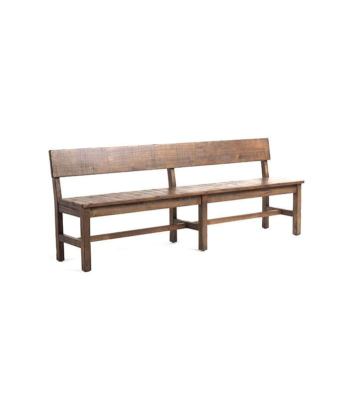 Distressed World Market Brown Wood Gulianna Extra Long Dining Bench
