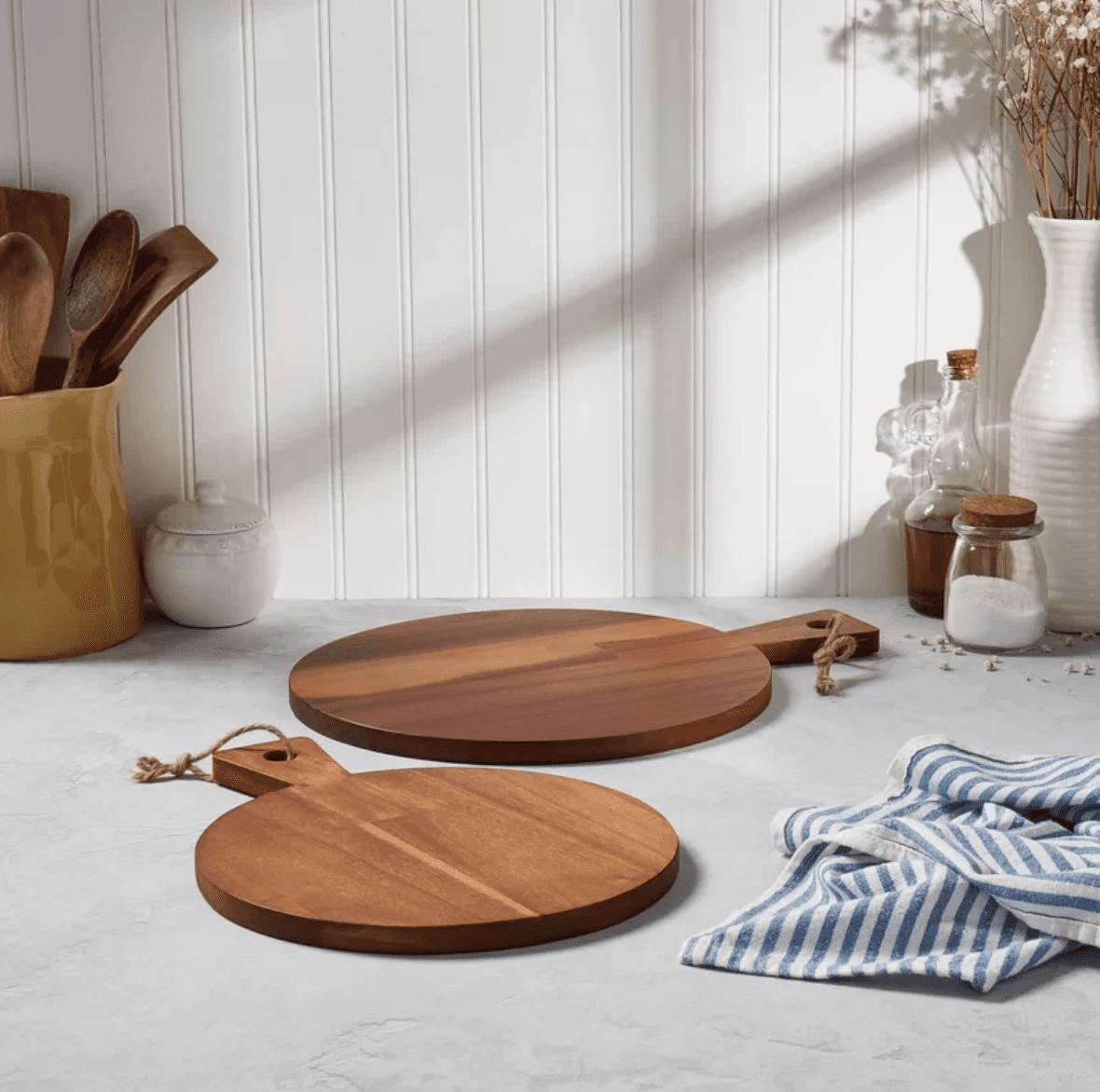 Denmark Acacia Wood Cutting Board Set (Set of 2)