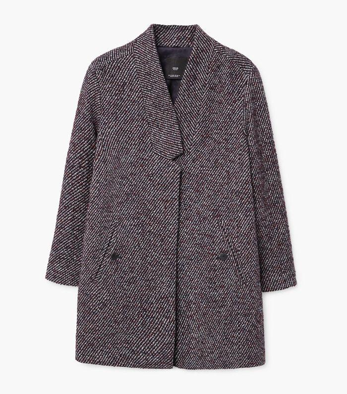 Herringbone flecked coat