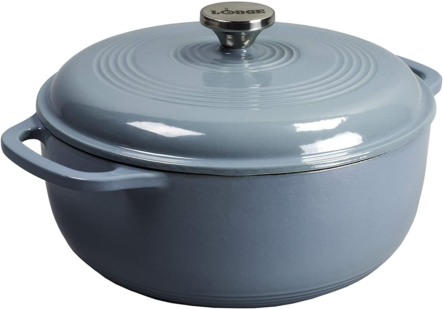 Lodge Enameled Dutch Oven in Stone Blue