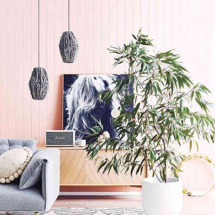 Esquemas de color de la sala de estar - Rosa