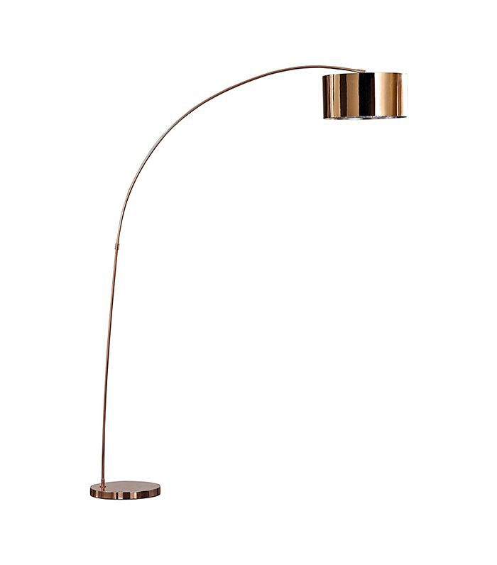 Artiva USA Rose Copper Arched Floor Lamp