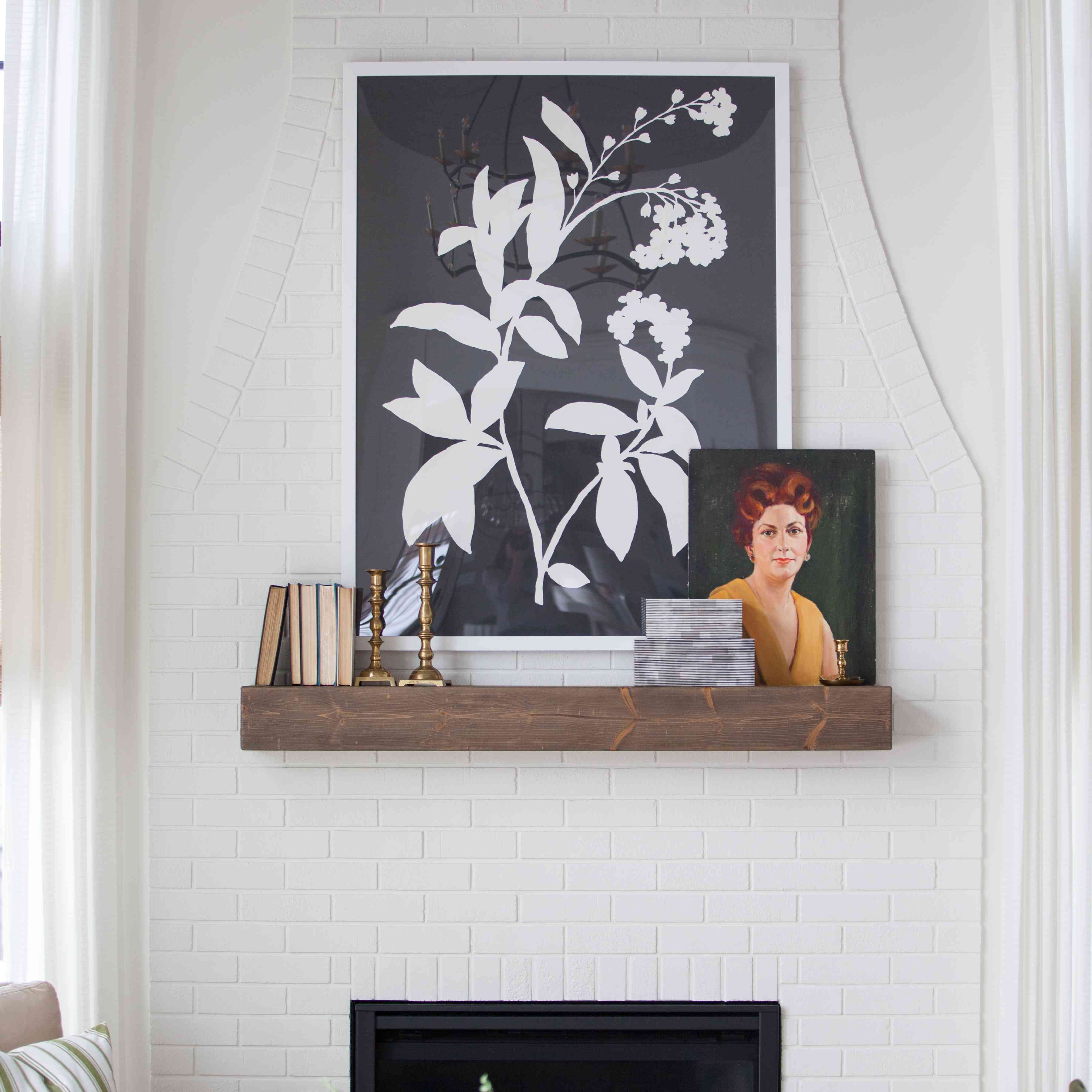 one room I'll never forget - fireplace with mantel