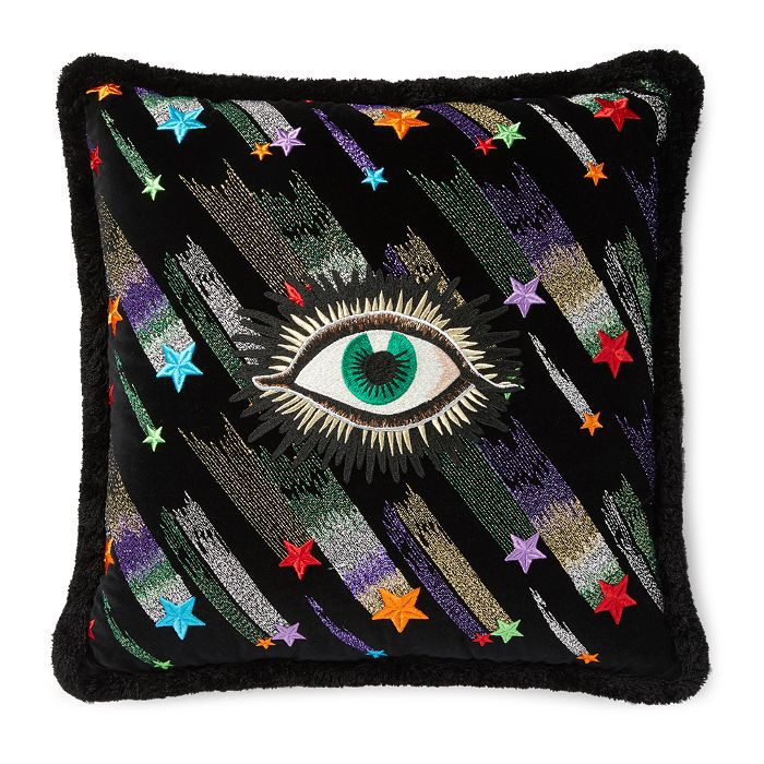 Gucci Velvet Cushion With Star Eye Embroidery