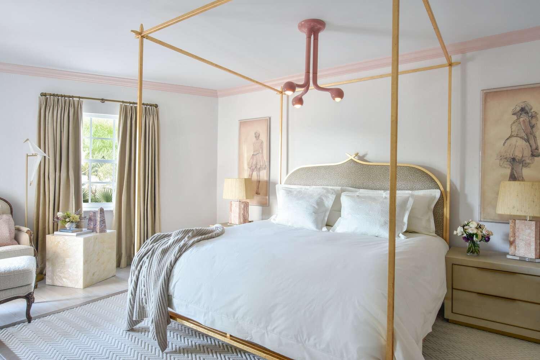 pink bedroom ceiling