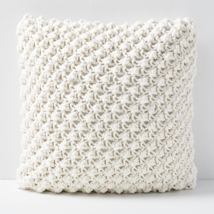 Bobble Knit Pillow Cover