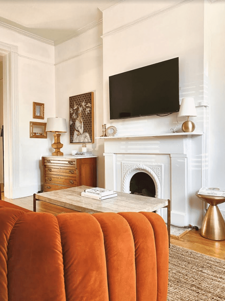 tips for fall decorating: warm metallics