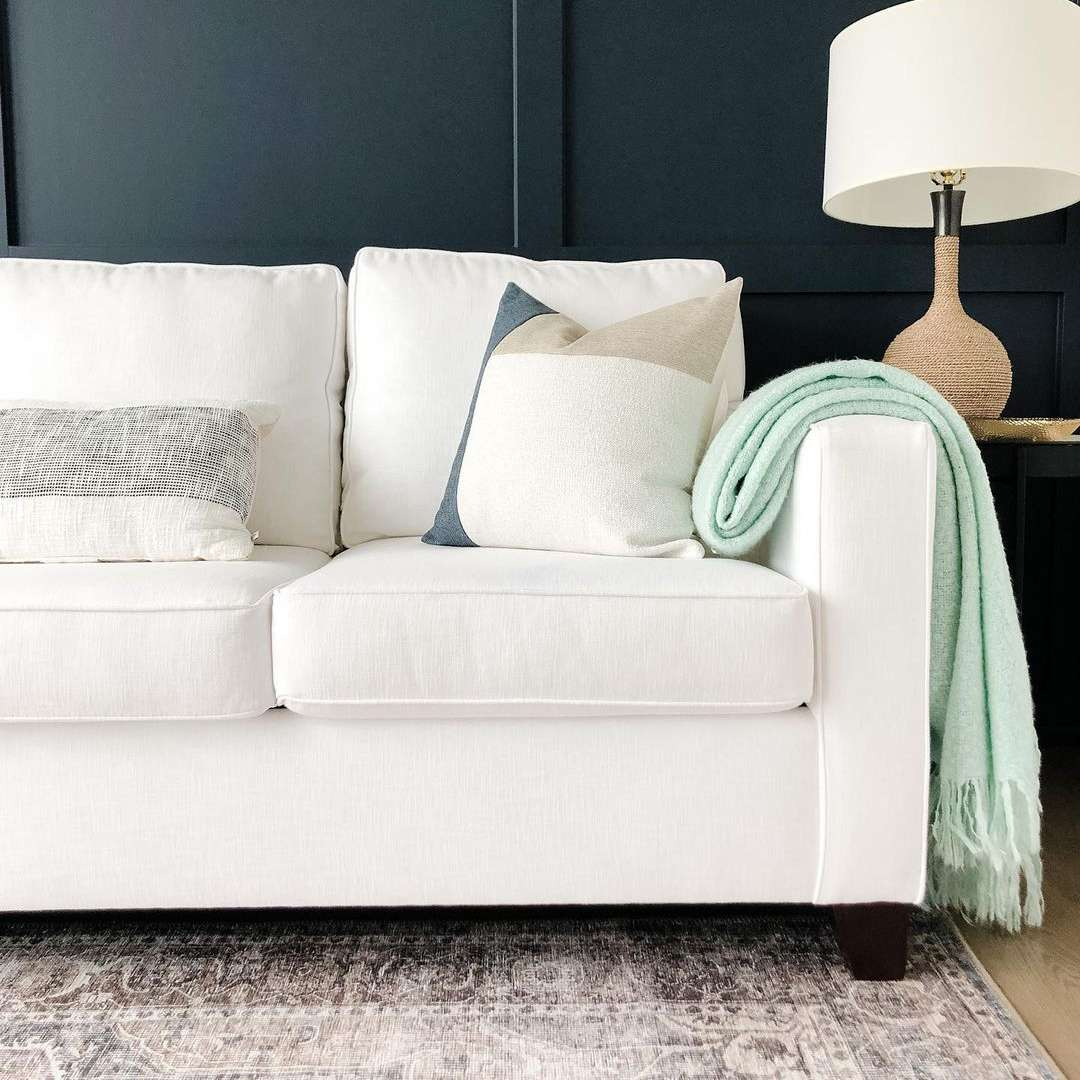 Couch with an area rug