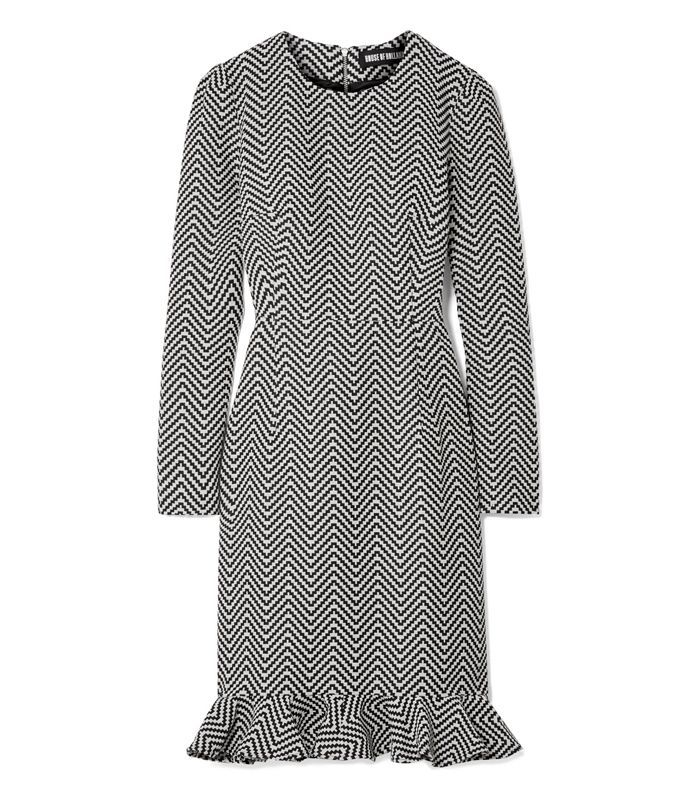 House of Holland Cotton-Blend Jacquard Mini Dress