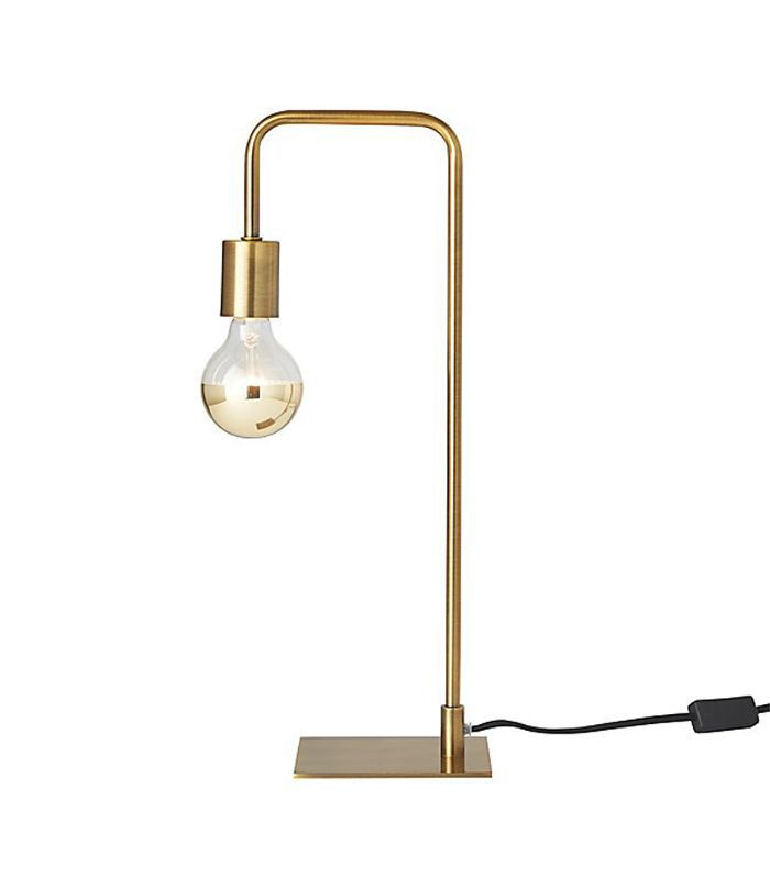 CB2 Antique Brass Arc Table Lamp