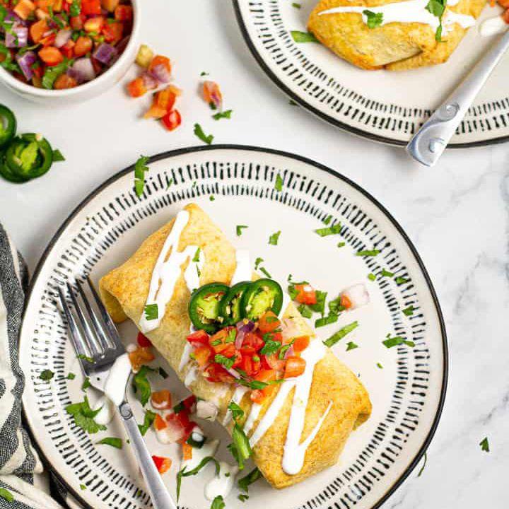 Chimichangas Mexicanas de Carne Molida
