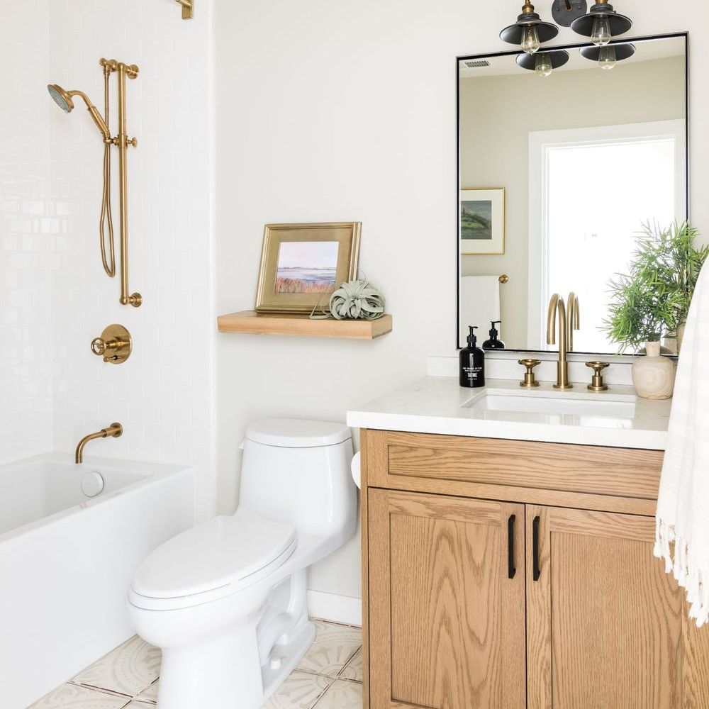 Bathroom with white paint