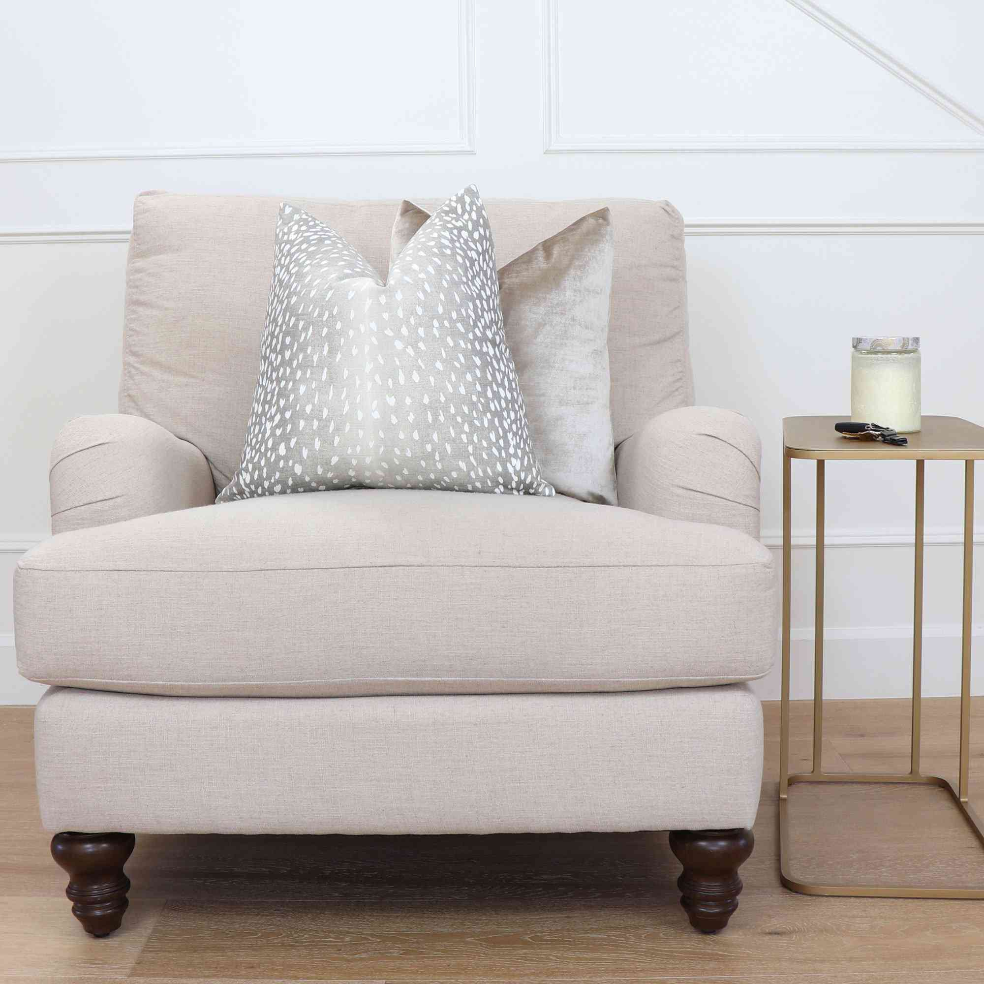 Antelope Gray Pillow Cover