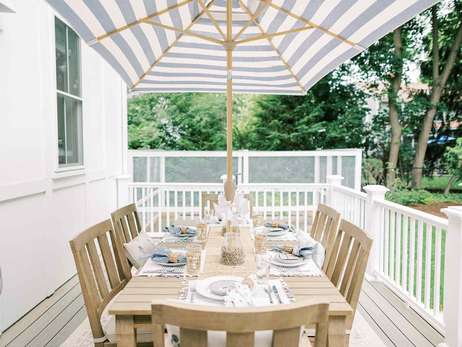 outdoor party idea dinner