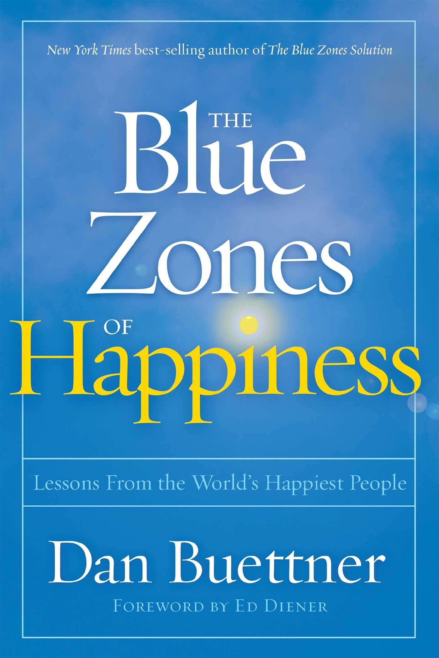 Sobrecubierta The Blue Zones of Happiness de Dan Buettner