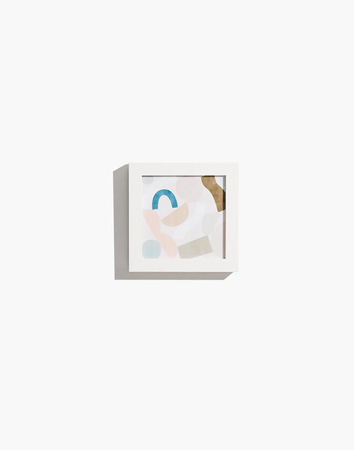 Extra-Small Terrazzo Shapes Framed Print