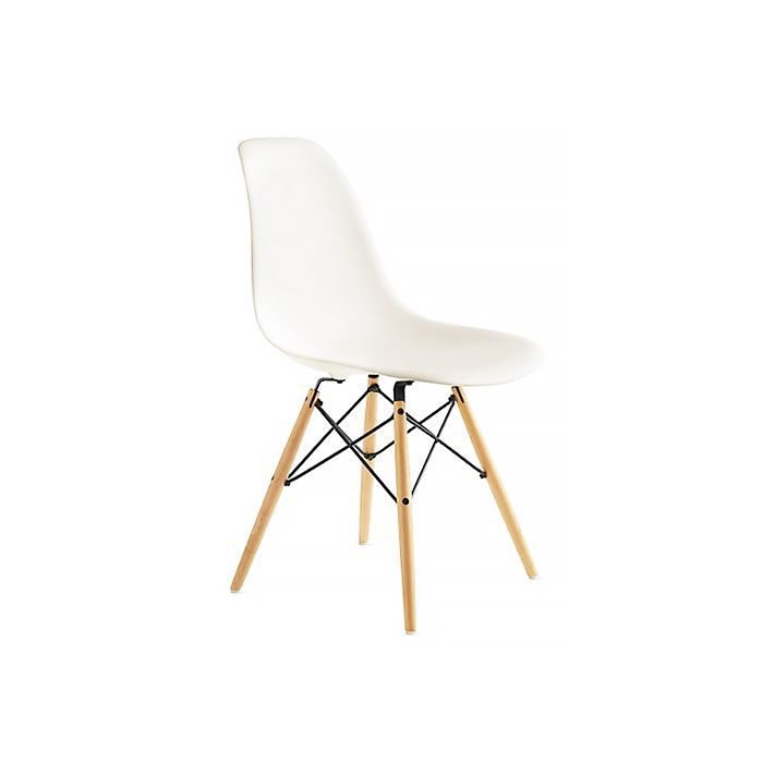 Eames Molded Plastic Dowel-Leg Side Chair (DSW) at DWR