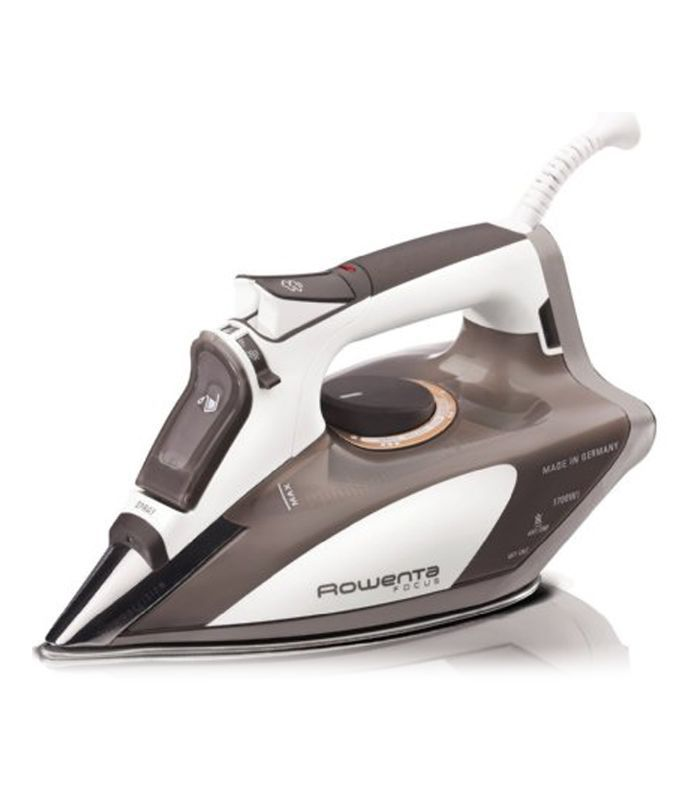 DW5080 Focus 1700-Watt Micro Steam Iron Stainless Steel Soleplate with Auto-Off, 400-Hole, Brown
