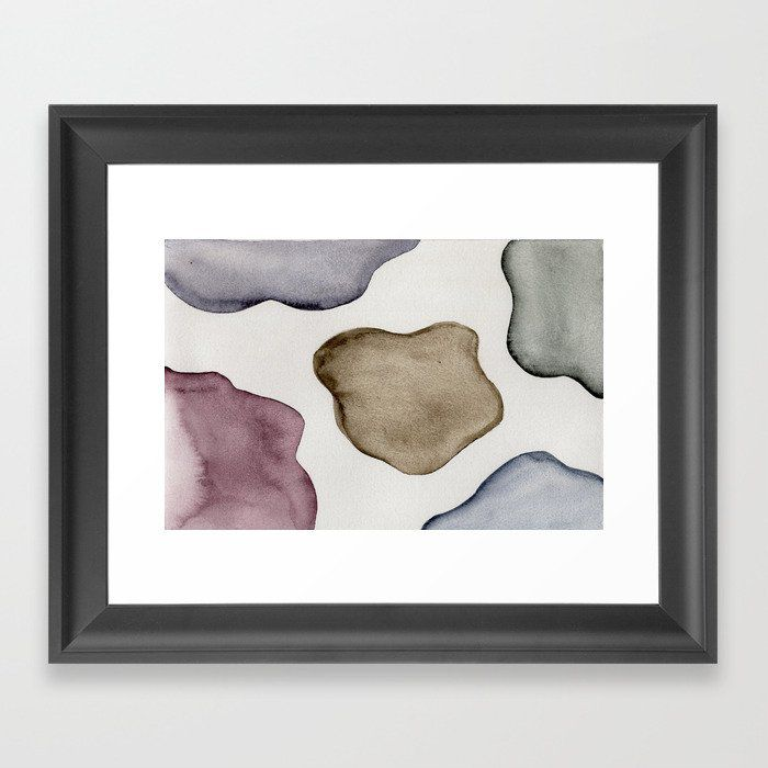 Blobs Framed Art Print