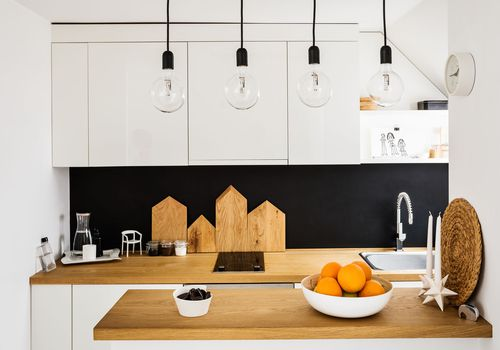 modern black-and-white kitchen