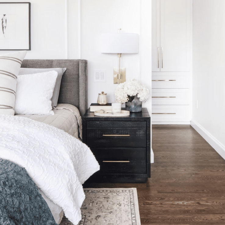 Bedroom with area rug