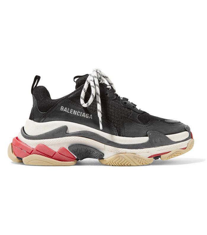 Balenciaga Triple S Logo-Embroidered Leather